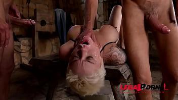 Blonde Fetish Slut Mila Milan Humiliated & DP'ed To The XXXtreme GP054