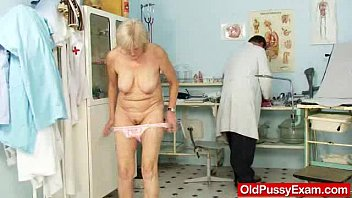 Elderly sexual Elder grandma brigita being muff inspected