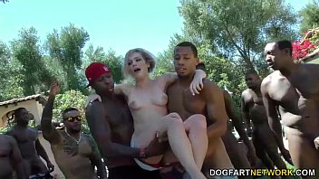 Swim instructor Dahlia Sky sucks many black cocks