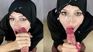 Muslim slut getting cum all over her face porno izle