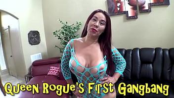 Queen Rogue's First Gangbang
