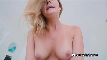 Banging busty random blonde on sex tape
