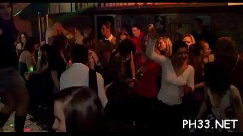 Tons of gang bang on dance floor