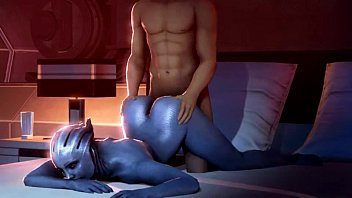 Anime with action romance and sex Mass liara kaidan romance scene