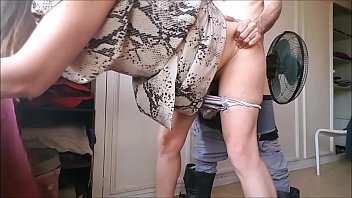 T&A 599 - Blowjobs & Quick Party In My Snake Pattern Dress
