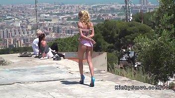Cuban bondage - Blonde sucking dick at barcelona view