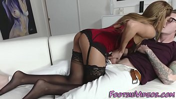Women lingerie in the uk - Babe gives footjob n fuck