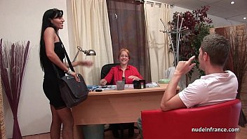 Gorgeous french milf in lingerie fucked hard and facialized for her casting