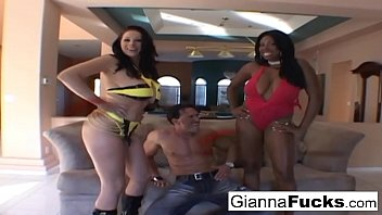 Lucky Marco gets to fuck brunette hotties Gianna and Candace