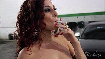 Alessandra smoking her cigarette 2 min