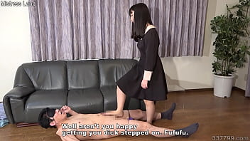 A Petite Japanese Girl Blindfolds A Man And Gives Him A Foot Job