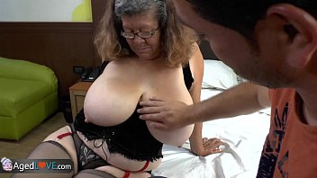Young fat tits Agedlove granny with big tits banged