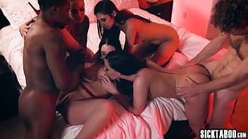 Horny brunette big tits MILF really likes a big cocks