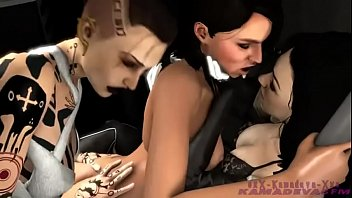 mass effect animation threesome