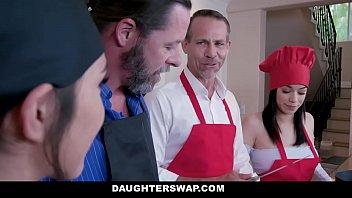 DaughterSwap - Teens (Gianna Gem) (Savannah Sixx) Get Dicked Down By Hot Daddies