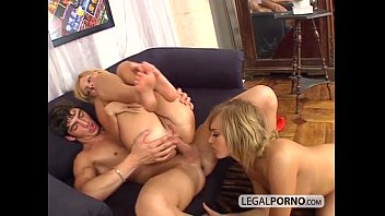Two hot blondes take a big dick in the ass SL-22-01