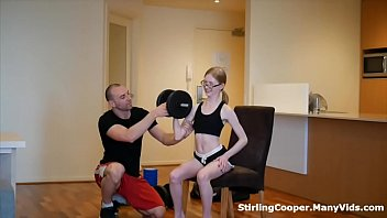 Petite Nymph Gets Picked Up and Fucked by her Personal Trainer