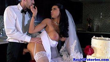 Horny big titted milf bride fucked hard 8分钟