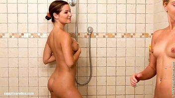 Shower Passion sensual lesbian scene by SapphiX