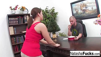 Natasha is super excited to fuck her boss