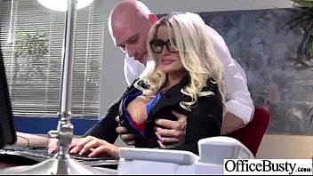 Office Girl (julie Cash) With Big Melon Tits Love Sex Movie-32