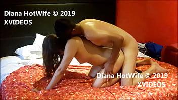 Extenuados llegamos al orgasmo. Diana HotWife