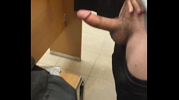 Public Store Fitting Room Cock play