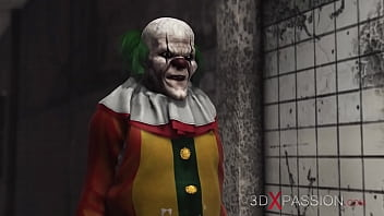 Writing porn - 3dxpassion.com. evil clown fucks a sweet schoolgirl in an abandoned hospital
