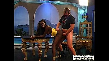 Black Babe Stacy screams for white cock - German Goo Girls
