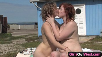 Girls Out West - Hairy lesbians Jette and Kara pornhub video