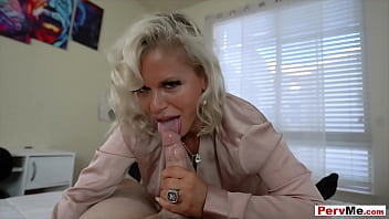 Stepmother with huge tits gets fucked POV style