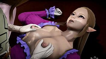 Futa – Princess Zelda gets creampied by Puppet Princess Zelda – 3D Porn