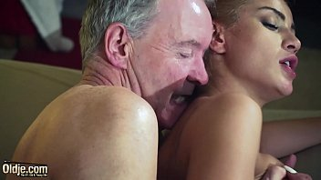 Young girls old men femdom Old man dominated by sexy hot babe in old young femdom hardcore fucking