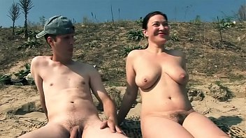 naked mature on beach with 2 horny cocks 720p thumbnail