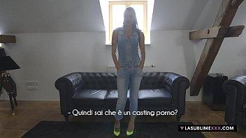 LaSublimeXXX Blowjob casting to an Italian MILF Priscilla Salerno 5 min