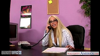 Big tit blonde glasses Office babe in glasses gina lynn fucking
