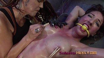 Surgical-tubing bondage Huxly blackmails vip tube sh 01
