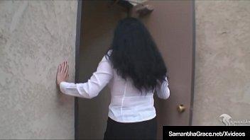 Got Underwear? BDSM Samantha Grace Fondles Herself Upskirt!