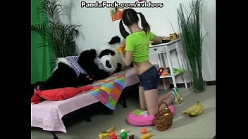 Care bear vintage toys - Attractive brunette girl seducing panda bear