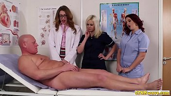 Cock hungry nurse babes share blowjob