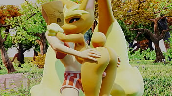 The pussy of pokemon - Lopunny thigh job