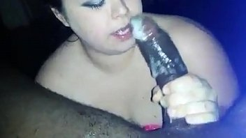 Cute white girl sucks and tries to deepthroat that Big Ass Dick. Sloppy blowjob!