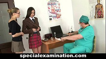 Horny gynecologist loves his work