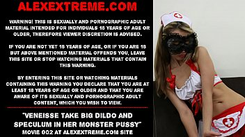 Veneisse (NEW 2020 release!!!) take big dildo and speculum in her monster pussy
