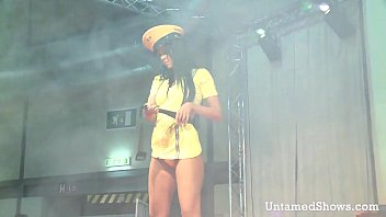 Hot stripper dancing and fingering her snatch thumbnail