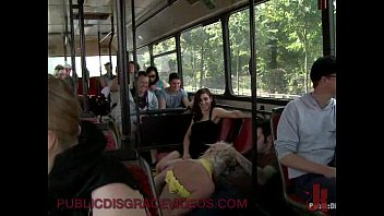 Full set bondage art - Bondage blonde anal fucked in public bus full of strangers