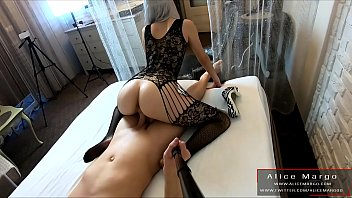 She Really Can Riding! Sexy BodyStocking! AliceMargo.com