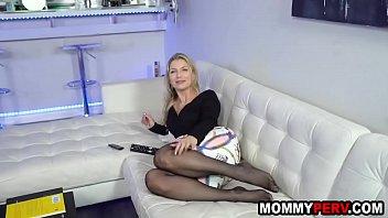 Blonde Milf Mom Fucking Son To Keep Him Quiet
