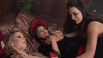 Big Tits MILF Moms Vampires Cosplay Theme Party turned a Hot Lesbian Orgy