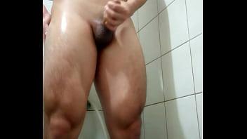Taiwan straight guy jerk off in bathroom